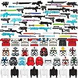 Myste Juego de 71 armas militares para minifiguras, soldados, policía, equipo militar WW2, armas militares, juguete militario, bloques de construcción compatibles con Lego Star Wars