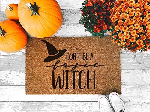 VinMea Divertido felpudo para entrada al aire libre o interior, no seas una alfombra básica para el piso de la bruja para la casa de los coches fuera de la oficina