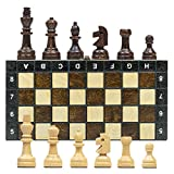 Wooden Chess Set Board 27 cm - luxury Chess Game for Adults and for Children with Large Pieces, portable foldable travel box