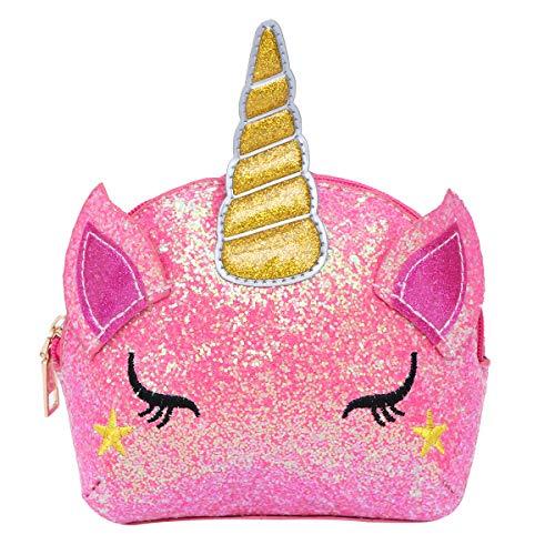 TENDYCOCO Glitter Sequin Unicorn Crossbody Bag Borsa a Tracolla Coin Purse Bag Borsa Piccola Borsa per Le Bambine (Rosa)