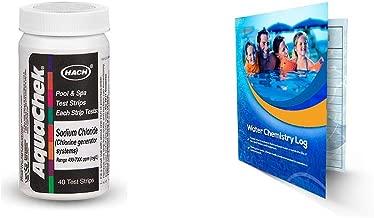 Hach Company AquaChek Salt Titrators Test Strips (Value Pack) 561161 Bundle Exclusive Water Chemistry Log (1)