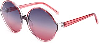 LUKEEXIN Oversized Unique UV Protection Colorful Frame Sunglasses for Women Men Outdoor Driving Vacation (Color : Red)