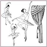 Tovagliolo Silhouette Art 50 x 50 cm Ballerina in Carta di Riso per decoupage Dancer