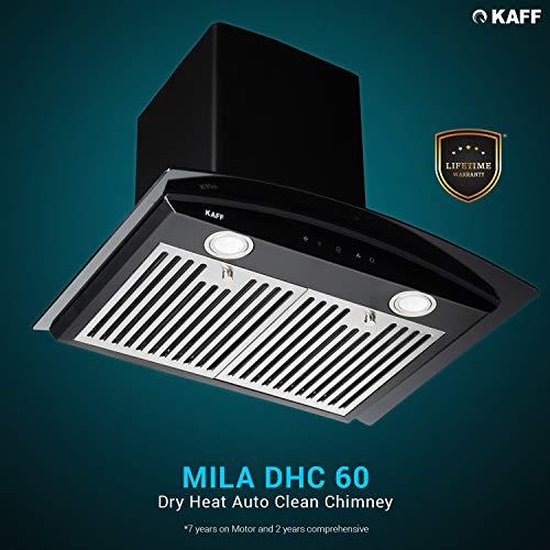 KAFF 60cm 1150 m3/hr Auto Clean Chimney (MILA DHC 60, 2 Baffle Filter, Black)