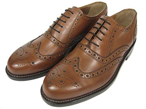 J.Briggs Herren Leder Schuh Oxford Full Brogue Budapester Schnürhalbschuhe Goodyear Welted Rahmengenäht