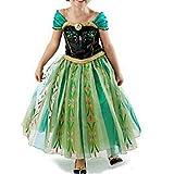 Cacilie® Prinzessin Kostüm Kinder Glanz Kleid Mädchen Weihnachten Verkleidung Karneval Party...