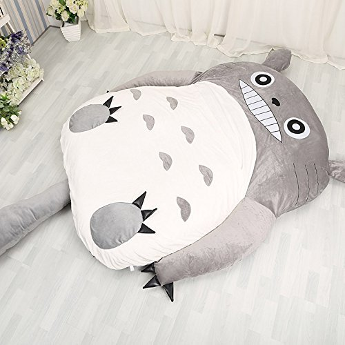 Norson My Neighbor Totoro Sleeping Bag Sofa Bed Twin Bed Double Bed Mattress for Kids Warm Cartoon Tatami Beanbag My Neighbor Totoro Sofa (Size 2:110CM 180CM(4371in))