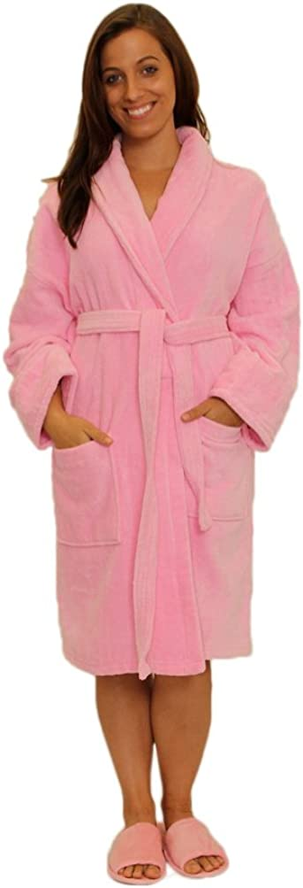 Shawl Terry Cotton Mens Womens Robe, S/M Size