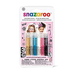 Package includes 6 face painting sticks If features semi-matte finish face paint sticks in vivid colors of pink, yellow, blue, gray, black and white Perfect for halloween party, themed party, costume party and birthday party This face painting sticks...