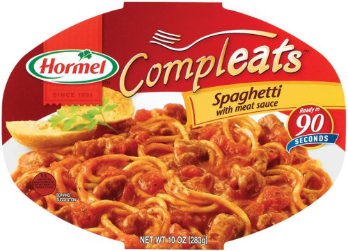 Hormel Compleats Spaghetti with Meat Sauce, 7.5-Ounce Microwavable Bowls (Pack of 6)