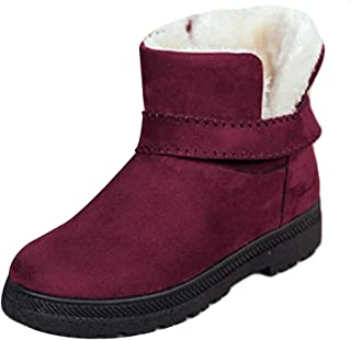 Fulision Female Winter Keep Warm Comfort Non-Slip Rubber Sole Snow Boots