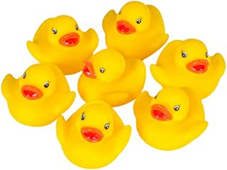 Kicko Tiny Rubber Duck Toys - 12 Pack Yellow Duckies for Kids Party Favors, on Birthdays, Baby Showers, All-Time Favorite ...