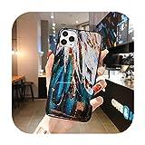 Phonecase - Carcasa de silicona para iPhone 11 Pro Max Xr X 8 7 Plus 6 6S con purpurina suave para iPhone Xs Max Se 2020-T18