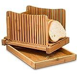 HXPainting Bambú Rebanadora De Pan Plegable Y Comprimido Ajustable Guía...