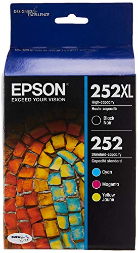 Epson T252XL-BCS - Ink Cartridge - Black and Color Combo Pack - DURABrite Ultra High and Standard Capacity - Prime Eligible