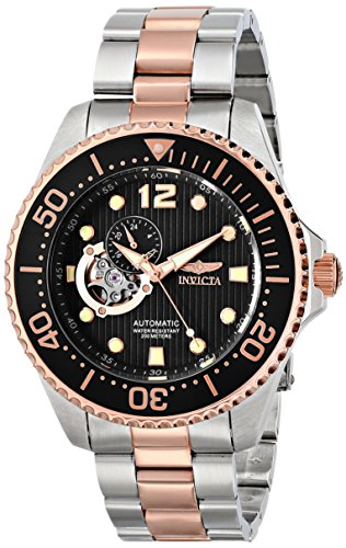 """Invicta Men's 15415 """"Pro Diver"""" Stainless Steel and 18k Rose Gold Ion-Plated Watch"""
