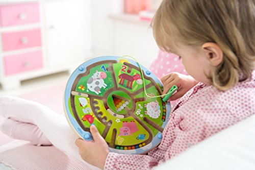Image of HABA Number Maze Magnetic Game STEM Toy Encourages Color Recognition, Fine Motor & Counting