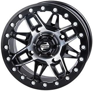 4/156 Tusk Wasatch Beadlock Wheel 14x7 4.0 + 3.0 Machined/Black for Polaris GENERAL 1000 EPS 2016-2018