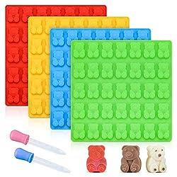 cheap Gummy Bear Type Candy Mold – Large 1 inch Gummy Bear Type 4 Pack LFGB…