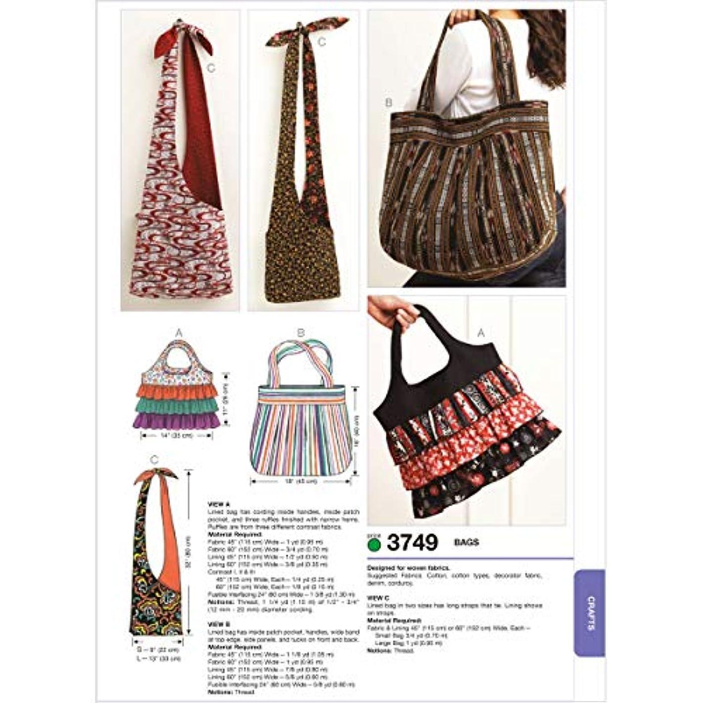 Kwik Sew K3749 Bags Sewing Pattern, No Size