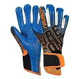 Reusch Guantes de Portero para niños, Pure Contact 3 G3, Color Negro, Naranja y Azul Oscuro, 5