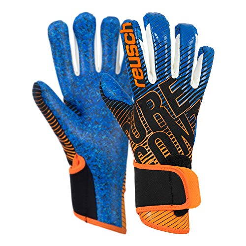 Reusch Kinder Pure Contact 3 G3 Fusion Junior Torwarthandschuh, Black/Shocking orange/deep Blue, 5