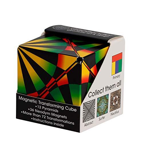 GeoBender - Cubo magnetico 3D 1 x Beam con 104 variaciones - Juguete antiestres de Rompecabezas para niños y Adultos - Juegos de Puzzle de Paciencia Creativo - Infintiy Cube de Jugar de Aprendizaje