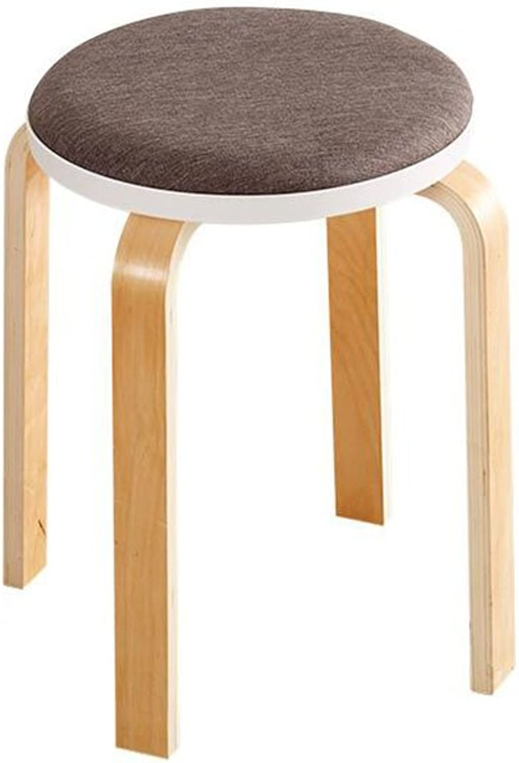 CJC Wooden Stool Solid Wood Stool Surface Cozy Breathable Home Office Furniture Kitchen (color   3)