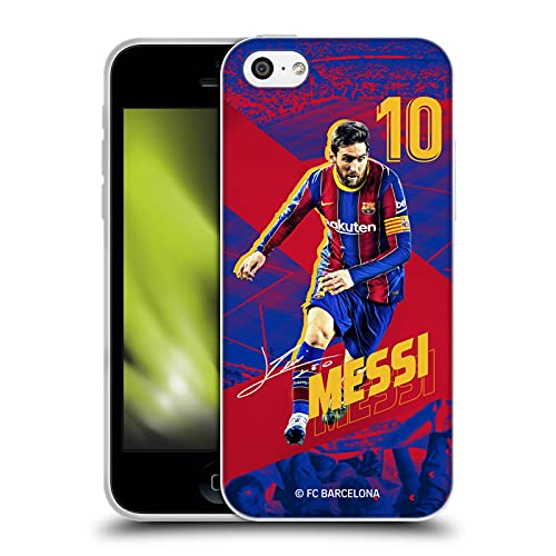 Head Case Designs Officially Licensed FC Barcelona Lionel Messi 2020/21 First Team Group 1 Soft Gel Case Compatible with Apple iPhone 5c