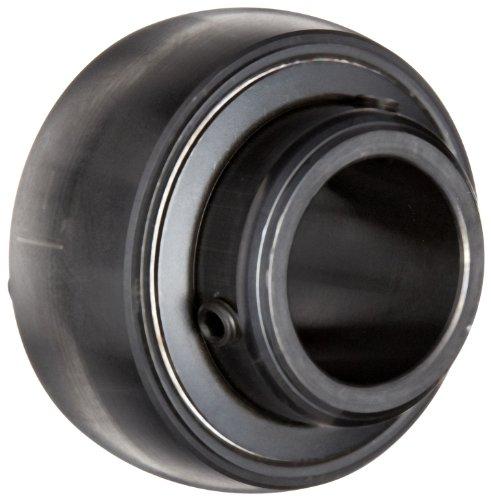 "Sealmaster 3-33D Bearing Insert, Medium Duty, Double Setscrew Locking Collar, Felt Seals, 3-3/16"" Bore, 150mm OD, 4-1/16"" Width, 1-15/16"" Outer Ring Width"