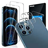 """[4Pack] 2 Pack Screen Protector Tempered Glass Compatible with iPhone 12 PRO 5G (6.1"""")+2 Pack Camera Lens Protector Tempered Glass for iPhone 12 PRO, HD Clear Anti-Scratch Bubble Free Case Friendly"""
