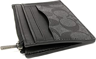 Multiway Zip Card Case in Signature Canvas Black Smoke F66649