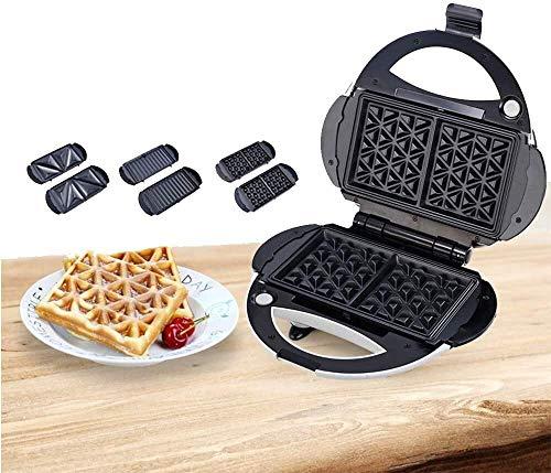 Gaufre ou sandwich Morning Gare de la station de repas avec un revêtement détachable en acier inoxydable en acier inoxydable pour le petit-déjeuner pour le petit-déjeuner, le déjeuner ou des collation