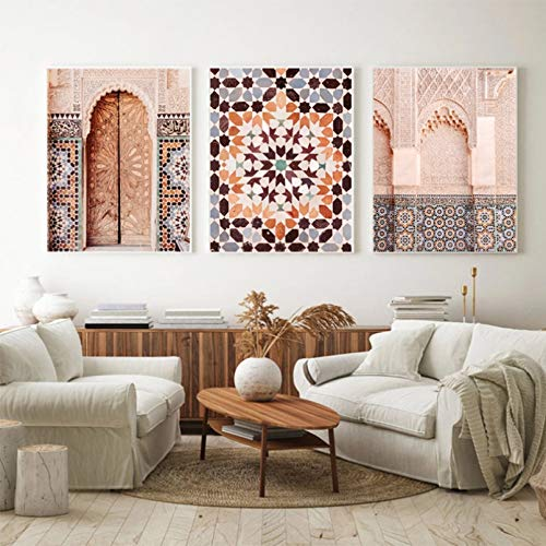 Triptych 3D printing canvas painting Architecture Photography Posters Prints Wall Art Canvas Painting Mosaic Wall Pictures Living Home decoration gifts-40x60cm