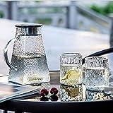 AWJ Tetera de Vidrio Transparente de 1200 ml de borosilicato Resistente al Calor, Ideal para té y Jugo de Frutas, Multiusos, fácil de Limpiar, Regalo para Uso doméstico, Viene con
