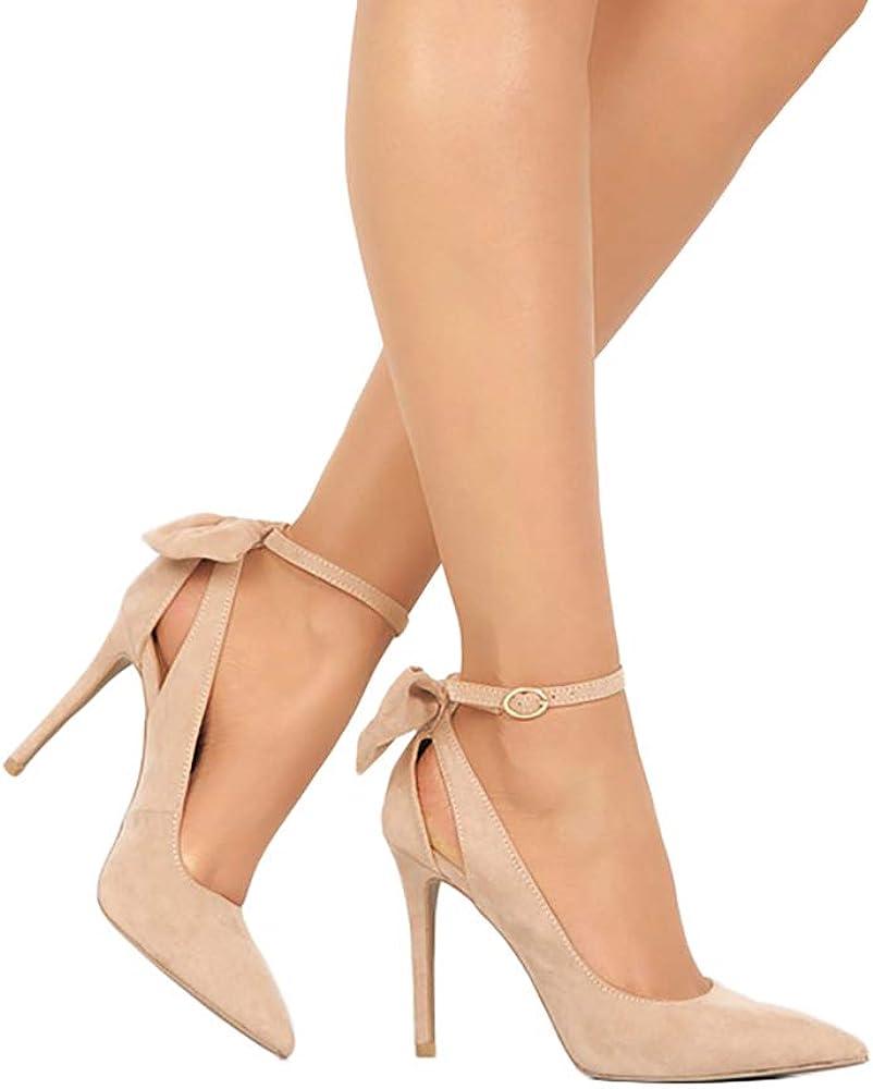 Ranking TOP14 PiePieBuy Arlington Mall Women's Pointed Toe High D'Orsay Heels Pum Strap Ankle
