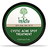 TreeActiv Cystic Acne Spot Treatment | Best Extra Strength Fast Acting Formula for Clearing Severe Acne from Face and Body | Gentle Enough for Sensitive Skin, Adults, Teens, Men, Women (0.25 oz)
