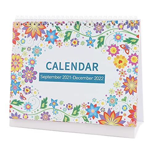 Calendario da Tavolo,Set.2021-DEC.2022 Calendario accademico flip in piedi per l'ufficio...