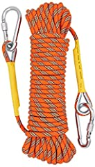 Compare with competitors climbing rope, the outer skin sliding rate of our rope is low (less than 0.05%),not easy pilling and keep good braking function.The operation is more smooth. High quality :Unlike other cheap stitch rope, our rope was made of ...