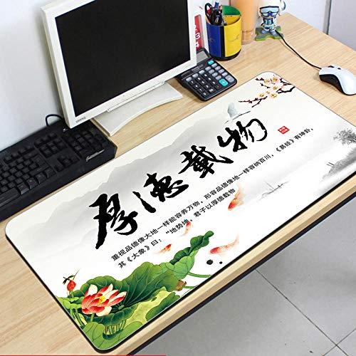 fangfaner Gepersonaliseerde computer muismat oversized dikke kantoor bureau schrijven pad aangepaste toetsenbord pad lock, Dikke Duitse lading 40x90x0.3cm
