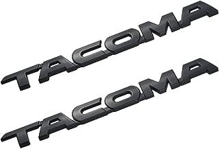 2 Pack Tacoma V6 SR5 Trunk Car Door Tailgate Decal Emblem Sticker Badge Replacement for Tacoma 2005-2015 (Black)