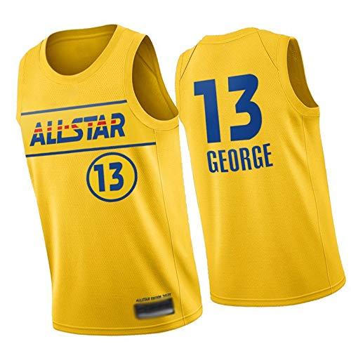 WXZB Camiseta de baloncesto All-Star 2021 77# # 00, camisetas atléticas para hombres, letras bordadas y números, regalos para fans 13-XL