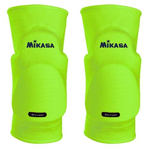 Mikasa Kobe - rodilleras para adulto, color Verde Neón (Neongrün), talla única