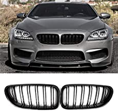 Front Grille, Kidney Grill Replacement for BMW 6 Series F06 F12 F13 (ABS, Gloss Black)