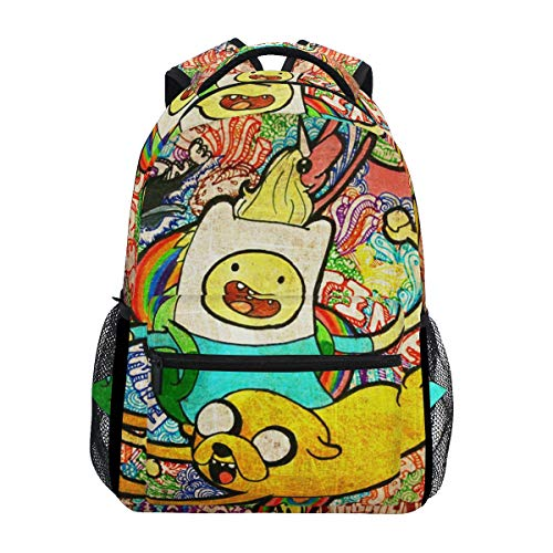 Backpacks College School Book Bag Travel Hiking Camping Daypack | 16'x12'x6' | Holds 15.4-inch Laptop £¨Adventure Time£