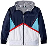 LRG Men's Lifted Research Collection Hooded Color Block Jacket, Navy, XL