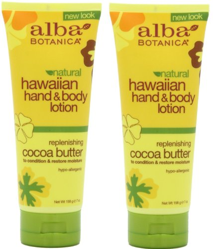 Alba Botanica Alba botanica hawaiian hand & body lotion, cocoa butter, 7 ounce (pack of 2)