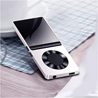 Metal Bluetooth MP3 Player, Portable Audio 4GB 8GB Music Player with Built-in Speaker FM Radio,Recorder,E-Book,Clock,White