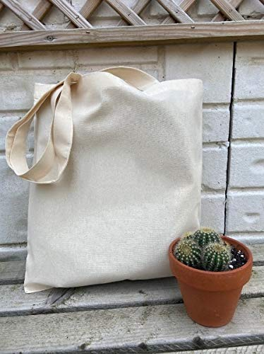 VITARA [ PACK OF 5 ] Organic Cotton Tote Unisex Shopping Bags with Extra Strong 13