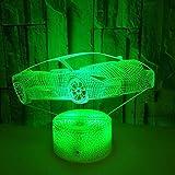 XXPF 3D Nachtlicht LED Tischlampe USB Licht 3D Autoradio Vision